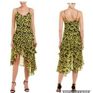 ✨Parker Limon Ruffled High Low Midi Dress